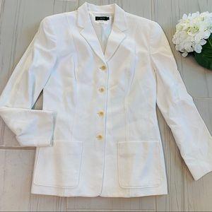 Vintage J crew cream button down jacket blazer 00